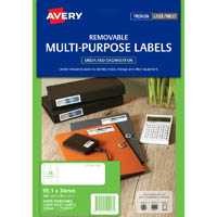 AVERY 959048 L7162 REMOVABLE MULTI-PUROSE LABEL LASER INKJET 16UP WHITE PACK 25