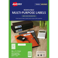 AVERY 959053 L7656 REMOVABLE MULTI-PUROSE LABEL LASER INKJET 84UP WHITE PACK 25