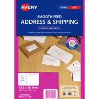 AVERY 959090 L7160 ADDRESS LABEL SMOOTH FEED LASER 21UP WHITE PACK 250