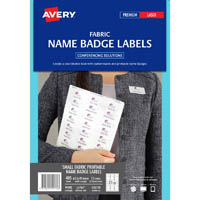 AVERY 959170 L4784 FABRIC NAME LABELS 27UP 63.5 X 29.6MM PACK 15