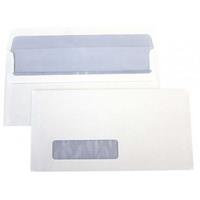 CUMBERLAND DL ENVELOPES WINDOW SECRETIVE SELF SEAL EASY OPEN 80GSM 110 X 220MM BOX 500