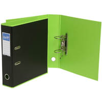 BANTEX DUET LEVER ARCH FILE 70MM A4 BLACK AND LIME