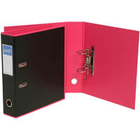 BANTEX DUET LEVER ARCH FILE 70MM A4 BLACK AND PINK