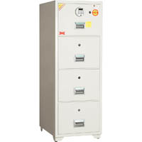 DEFIANCE ELECTRONIC SAFE FILING CABINET 4 DRAWER FIRE RESISTANT