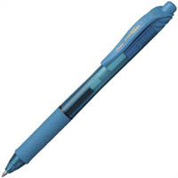 PENTEL ENERGEL-X RETRACTABLE GEL INK PEN 0.7MM SKY BLUE