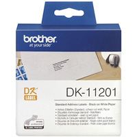 BROTHER DK-11201 LABEL ROLL 29 X 90MM WHITE ROLL 400