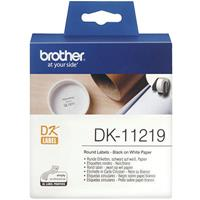 BROTHER DK-11219 LABEL ROLL ROUND 12MM ROLL 1200