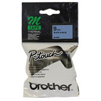 BROTHER M-K521 LABELLING TAPE 9MM BLACK ON BLUE