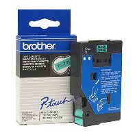BROTHER TC-701 LABEL TAPE 12MM BLACK ON GREEN