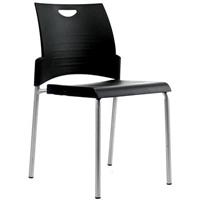 BURO PRONTO CHAIR 4-LEG STACKER BLACK