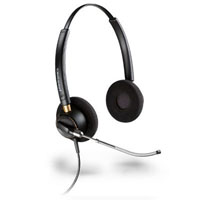PLANTRONICS ENCOREPRO HW520 HEADSET CORDED BINAURAL NOISE-CANCELING BLACK