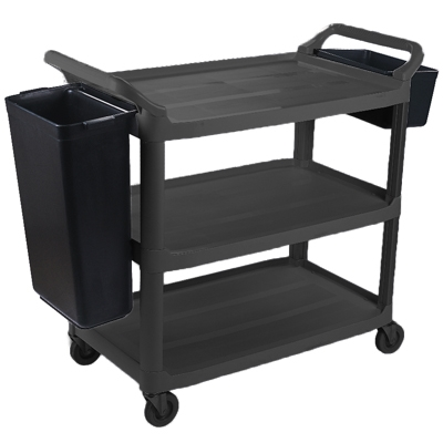 Image for CLEANLINK 3 TIER TROLLEY WITH COLLECTION BUCKETS from Ross Office Supplies Office Products Depot
