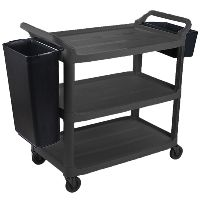 CLEANLINK 3 TIER TROLLEY WITH COLLECTION BUCKETS