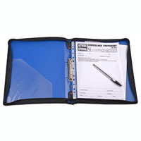CUMBERLAND ZIPPERED BINDER WITH HANDLE 2R 25MM A4 BLUE