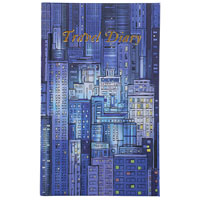 CUMBERLAND BLUE CITYSCAPE TRAVEL DIARY CASEBOUND 170 X 105MM 72 LEAF