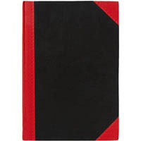 BLACK AND RED NOTEBOOK CASEBOUND RULED 100 LEAF A4 ASSORTED CORNERS
