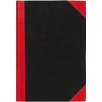 BLACK AND RED NOTEBOOK CASEBOUND RULED 200 LEAF A4
