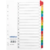 INITIATIVE DIVIDERS INDEX A4 A-Z TAB COLOURED