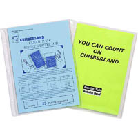 CUMBERLAND SHEET PROTECTORS HEAVY DUTY A5 CLEAR PACK 25