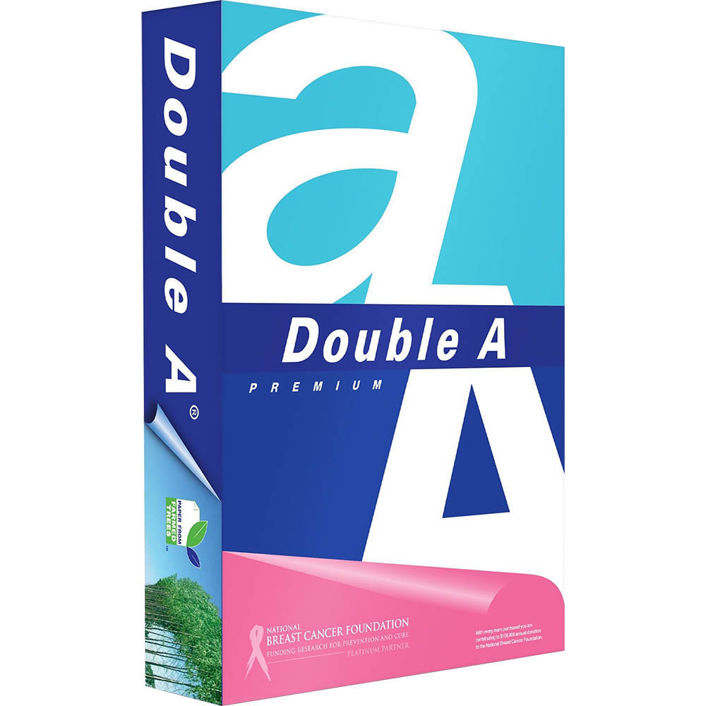 Image for DOUBLE A A4 SMOOTHER COPY PAPER 80GSM WHITE PACK 500 SHEETS from Copylink Office Products Depot