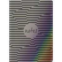 COLLINS BRILLIANCE NOTEBOOK RULED 192 PAGE B6 METALLIC SILVER