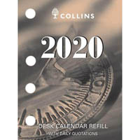 COLLINS 2020 CALENDAR REFILL DAY TO PAGE SIDE PUNCH