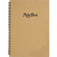CUMBERLAND KRAFT COVER NOTEBOOK SPIRAL BOUND RULED 80 LEAF A5