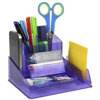 ITALPLAST DESK ORGANISER TINTED PURPLE