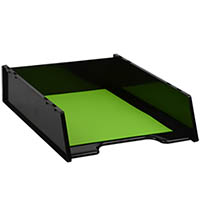 ITALPLAST GREENR MULTIFIT DOCUMENT TRAY A4 BLACK