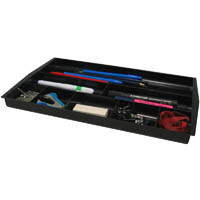 ITALPLAST GREENR DRAWER TIDY 8 COMPARTMENT BLACK