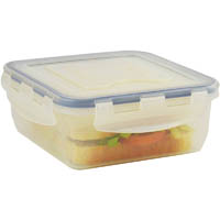 ITALPLAST AIR LOCK FOOD CONTAINER 800ML CLEAR