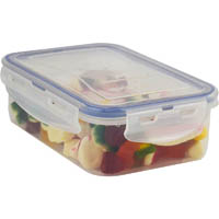 ITALPLAST AIR LOCK FOOD CONTAINER 890ML CLEAR