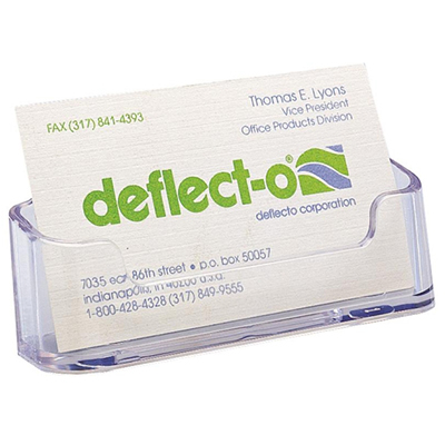 Image For DEFLECTO BUSINESS CARD HOLDER SINGLE CLEAR From Office National  Port Augusta