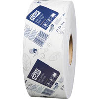 TORK T1 ADVANCED SOFT JUMBO TOILET ROLL 2 PLY 90MM X 320M WHITE