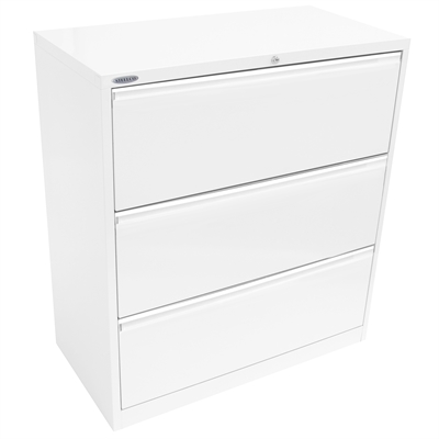 Image for STEELCO LATERAL FILING CABINET 3 DRAWER 1015 X 915 X 463MM WHITE SATIN from  sc 1 st  Office Products Depot : filing cabinets gold coast - Cheerinfomania.Com