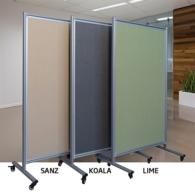 Image For VISIONCHART MODULO MOBILE SCREEN DOUBLE SIDED VELOUR FABRIC 1800  X 1000MM SANZ From Office