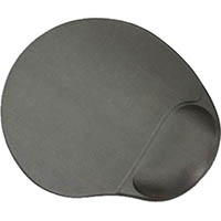AURORA MOUSE PAD SUPERGEL WITH WRIST REST STEEL GREY