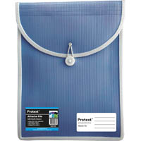 PROTEXT ATTACHE FILE WITH ELASTIC CLOSURE BLUE
