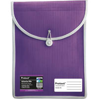 PROTEXT ATTACHE FILE WITH ELASTIC CLOSURE PURPLE