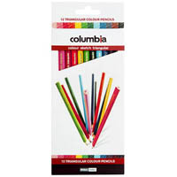 COLUMBIA COLOURSKETCH TRIANGULAR PENCILS ASSORTED PACK 12