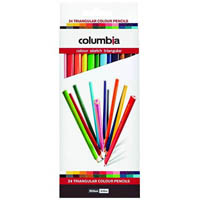 COLUMBIA COLOURSKETCH TRIANGULAR PENCILS ASSORTED PACK 24
