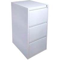 INITIATIVE FILING CABINET 3 DRAWER 475 X 600 X 1020MM WHITE SATIN