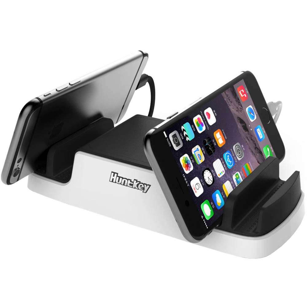 Image for HUNTKEY SMARTU 4-PORT 40W USB CHARGING DOCK BLACK/WHITE from Angleton's Office Products Depot