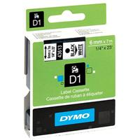 DYMO 43613 D1 LABELLING TAPE 6MM X 7M BLACK ON WHITE