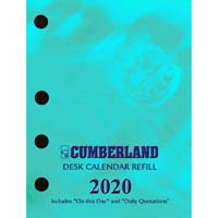 CUMBERLAND 2020 DESK CALENDAR REFILL SIDE PUNCH
