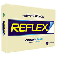 REFLEX COLOURS A3 COPY PAPER 80GSM SAND PACK 500 SHEETS