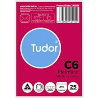 TUDOR C6 ENVELOPES PLAINFACE PRESSEAL WHITE PACK 25