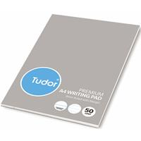 TUDOR PREMIUM OFFICE PAD 8MM RULED 100 PAGE A4 PACK 10