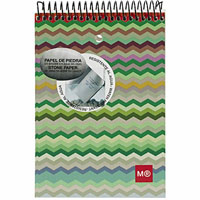 MIQUELRIUS SPIRAL NOTEPAD 7MM RULED 130 PAGE 80GSM 104 X 150MM ZIGZAG PACK 5