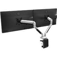 CUTLASS DOUBLE MONITOR ARM WHITE